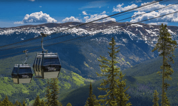 Winter park gondola