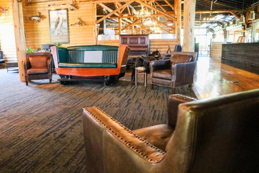 Grand lake lodge lobby