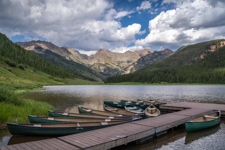 piney lake vail canoe rental