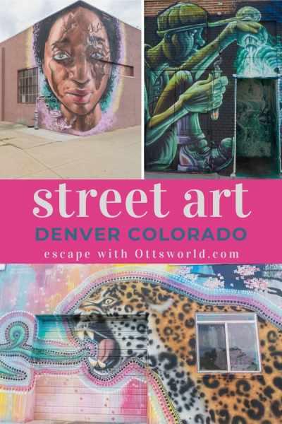Views of street art on buildings in Denver Colorado