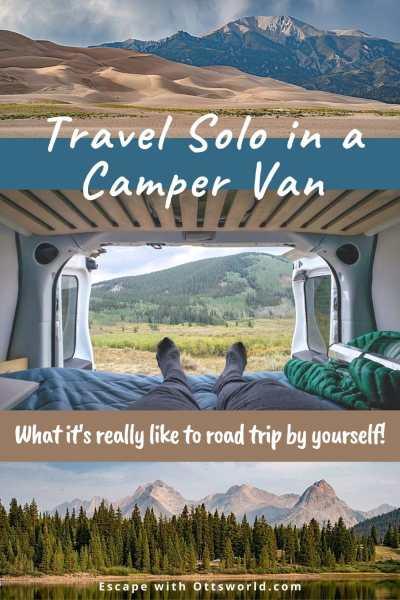 camper van and mountain views