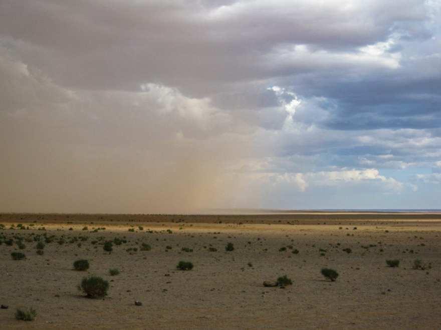 Sand storm gobi desert