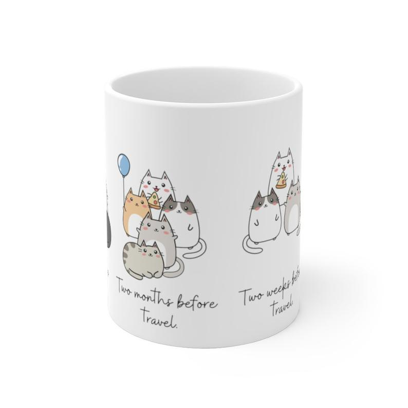 solo travel cat mug
