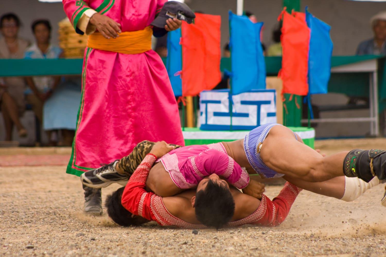 mongolian wrestling naadam festival