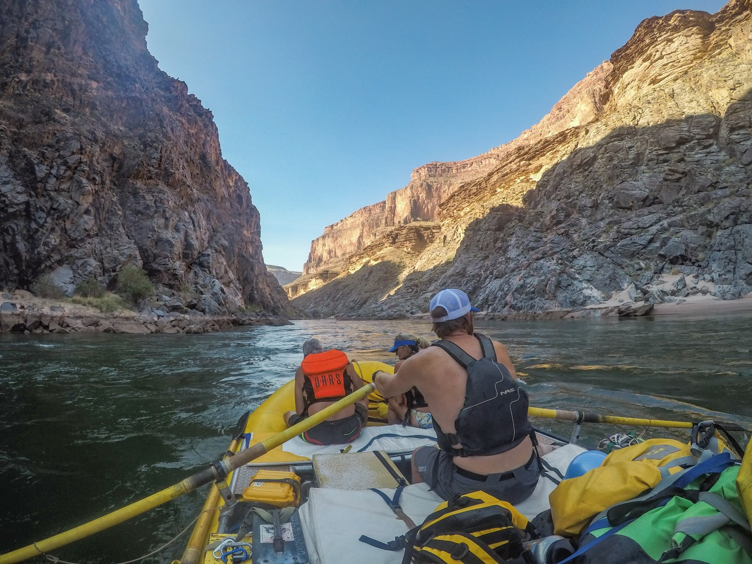 rowing through the grand canyon