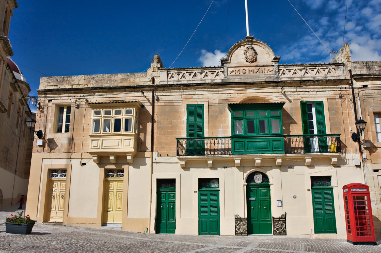 colorful maltese balconies