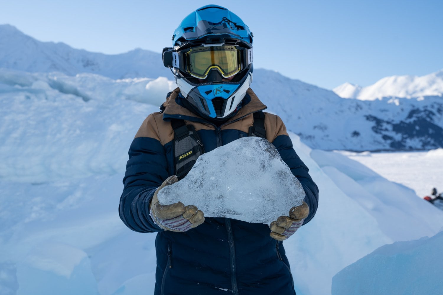 hold a piece of spencer glacier in your hands