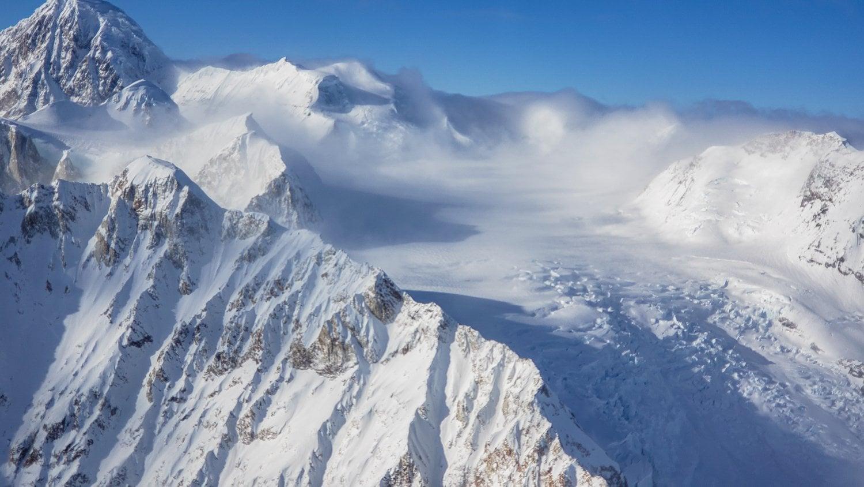 winter flightseeing denali national park