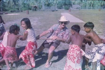 22 Alex Griffiths with children