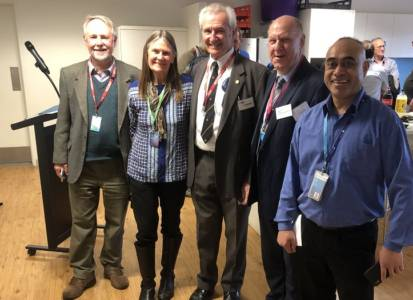 Colin Mackellar OAM, Michell Hayward, Jim Simpson,  David Piltz and Ngar Rairoa