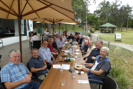 OTVA Members Southside Christmas Lunch Relaxing after lunch-20201203