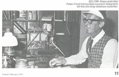 Peter Frost Area Controller Traffic Section circa 1972