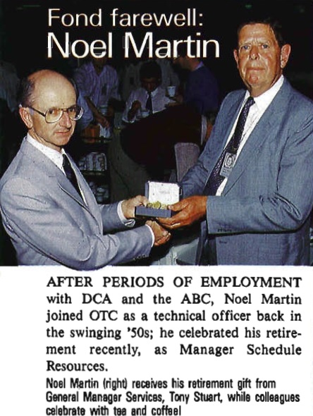 Noel at his Retirement in 1989