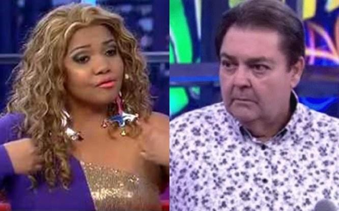Gaby Amarantos e Faustão. (Foto: Reprodução)