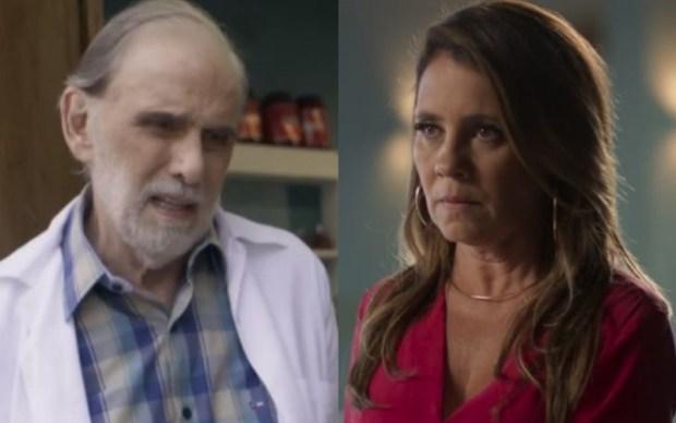 Nestor (Francisco Cuoco) e Laureta (Adriana Esteves) em Segundo Sol (Foto: Reprodução/Globo)