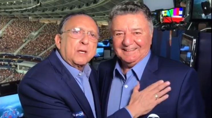 Galvão Bueno e Arnaldo Cezar Coelho (Foto: Reprodução/Instagram)