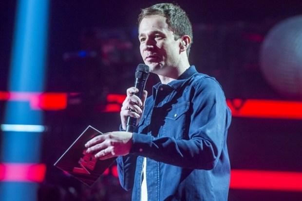 Tiago Leifert no The Voice Brasil (Foto: Globo/Raquel Cunha