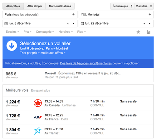google-flight-resultats