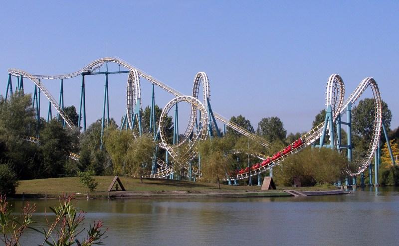 L'attraction Goudurix au parc Astérix