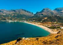 Les montagnes et la mer en Crète