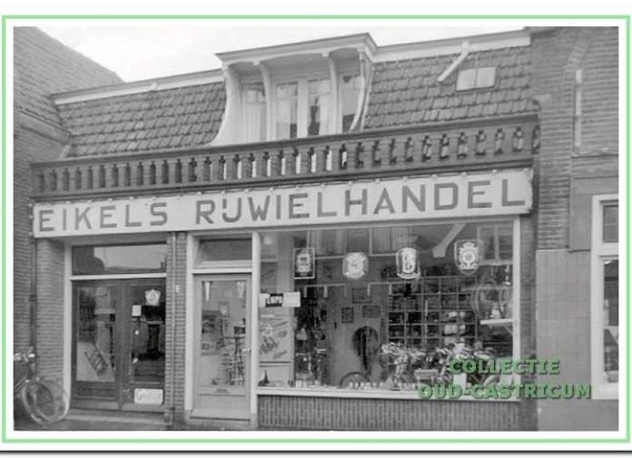 De rijwielhandel van Eikel, Dorpsstraat 51, in 1967.
