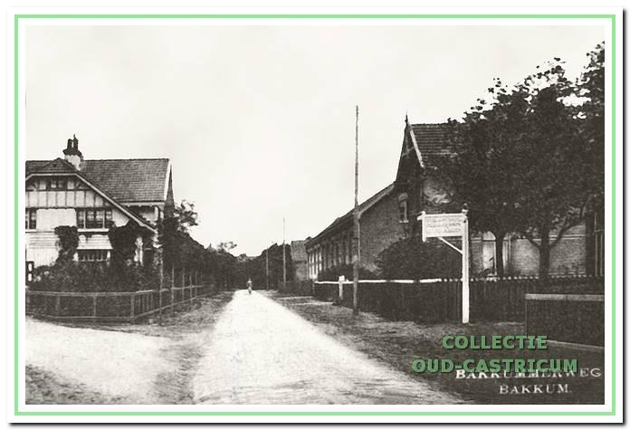 Bakkummerweg in Bakkum, circa 1920.
