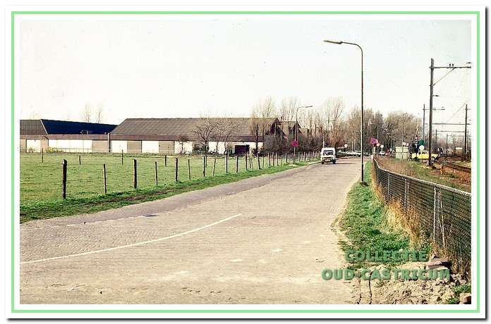 De Kramersweg met het kaaspakhuis van Uniekaas in het oude veilinggebouw.