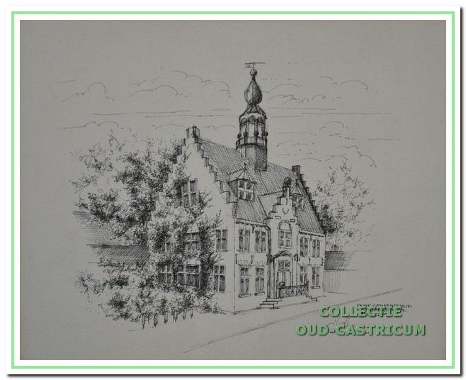 Het oude raadhuis in Castricum.