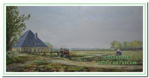 Boerderij Hes, Madeweg 5 Bakkum, olieverf.