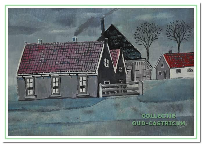 Het armenhuis aan de Overtoom hoek Schoolstraat in Castricum.