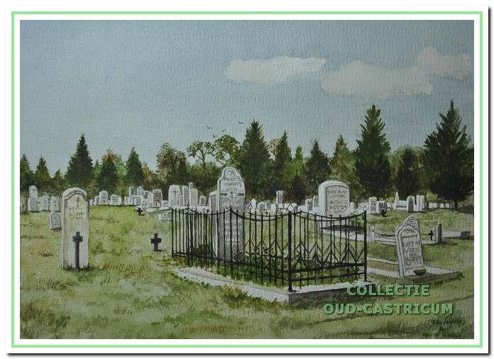De begraafplaats op het voormalig terrein van Duin en Bosch.