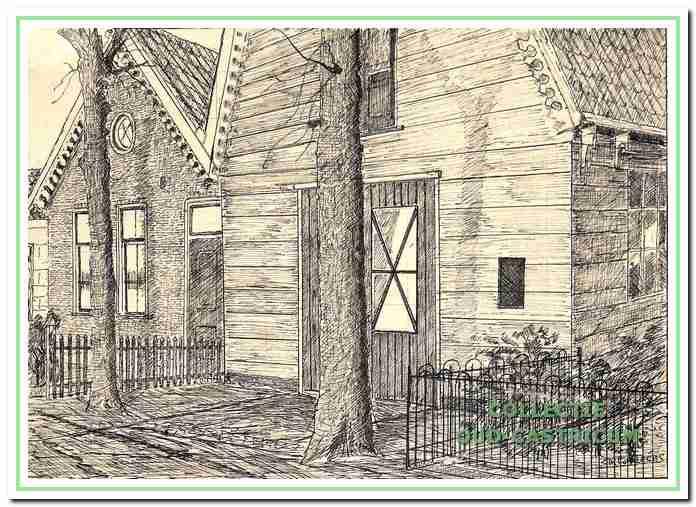 Woning en werkplaats van Pieter Portegies in de Burg. Mooystraat, toen nog Kramersweg geheten.