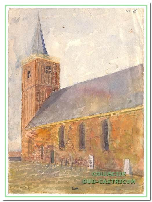 Nederlands hervormde kerk, gezien vanuit het zuid-oosten.