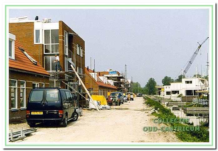 Bouw werkzaamheden aan de Lide Tulpsingel in Castricum, 14 mei 2000.