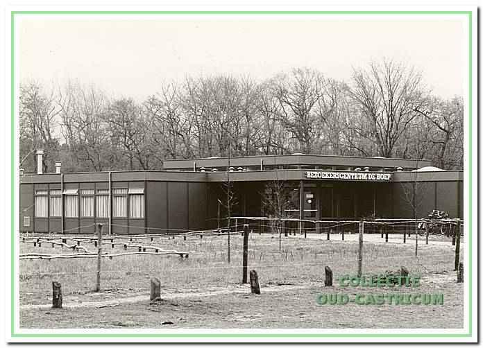Het bezoekerscentrum de Hoep, aan de Johannisweg 2 te Bakkum in 1992.