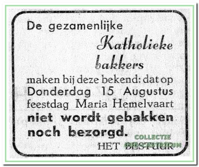 Advertentie uit de jaren 1940.