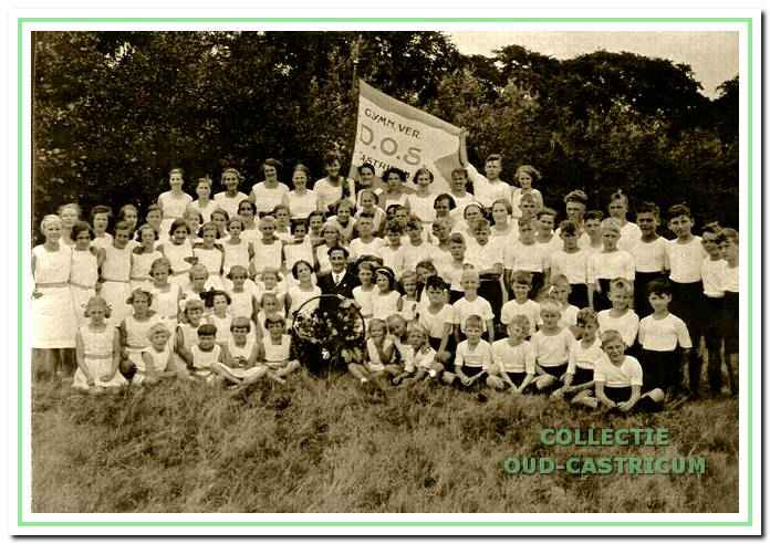 Tijdens de viering van het eerste lustrumfeest op 11 juni 1937.