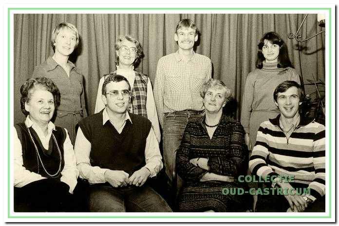 Het bestuur van DOS tijdens het 50-jarig bestaan in 1982.