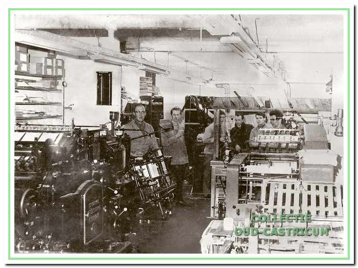 De overvolle drukkerij in de Geelvinckstraat.