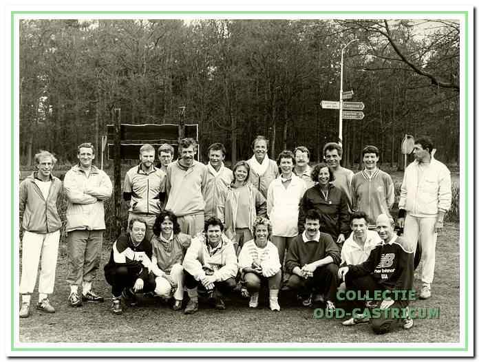 De trimclub van Guus in de jaren 1980.