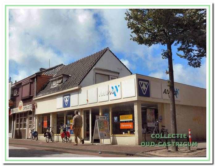 Zo'n vier jaar was de VVV-ANWB gevestigd in het inmiddels gesloopte pand Dorpsstraat 54.