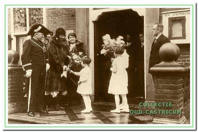 Feest ter gelegenheid van het 12,5 Jarig ambtsjubileum van burgemeester Lommen op 1 februari 1931.