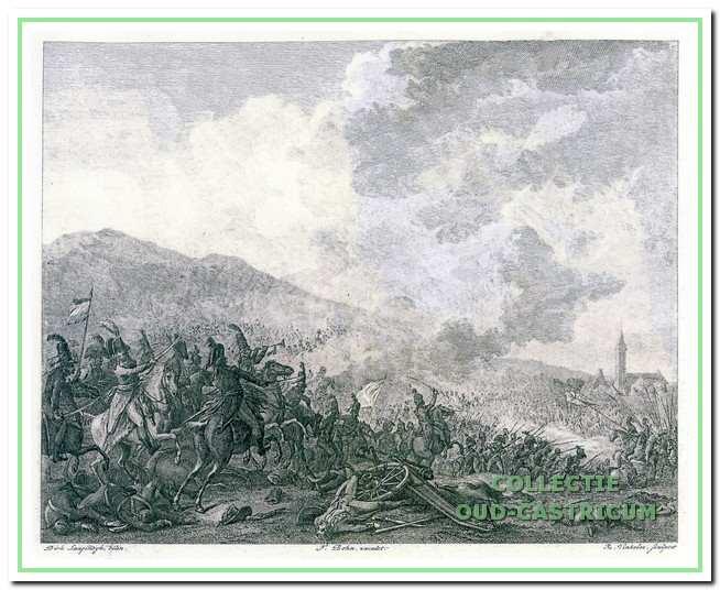Slag bij Castricum op 6 oktober 1799. Gevechten tussen Russische en Engelse troepen tegen de Bataafse en Franse troepen.