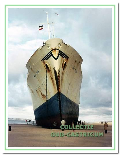 Castricum aan Zee, de gestrande Wan Chun.