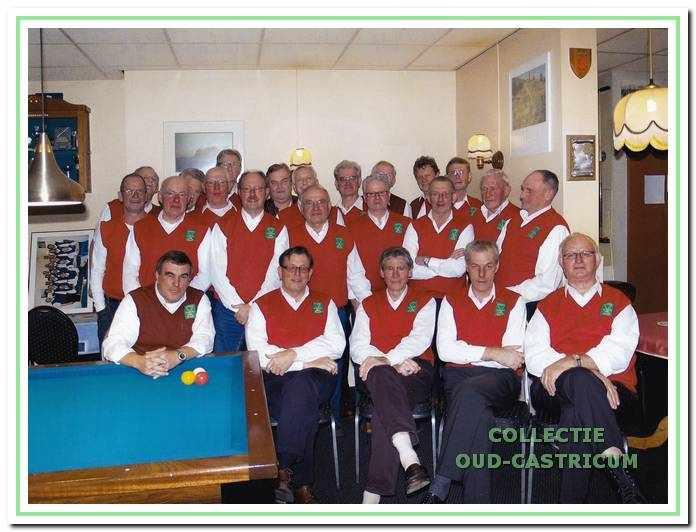 De leden van 't Steegie in 2008.