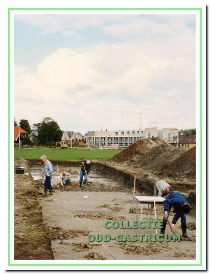 Opgraving Oosterbuurt in Castricum, 1995.