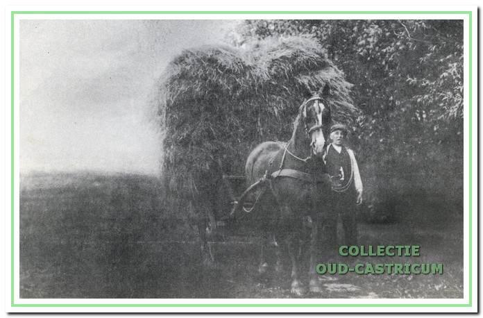 Foto Albert Asjes met paard en wagen