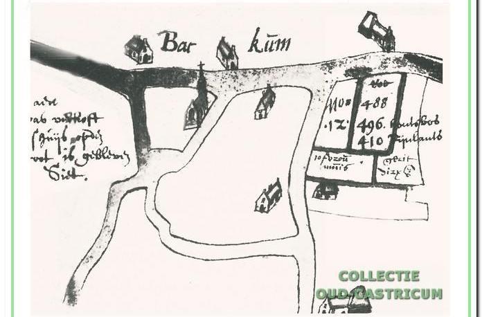 Het buitenhuis en boerderij Gaeff met het op 11 april 1643 aangekochte ten westen gelegen perceel, dat eigendom was van het Weeshuis te Amsterdam.