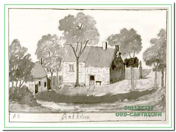 De vroegere kapel, zoals Andries Schoemaker haar schetste in 1726.