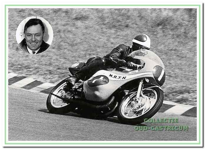 Jan Dekker in actie in 1968 op het circuit van Assen.